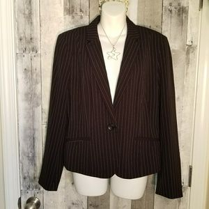 Nwt black pinstripe blazer Worthington jacket xl